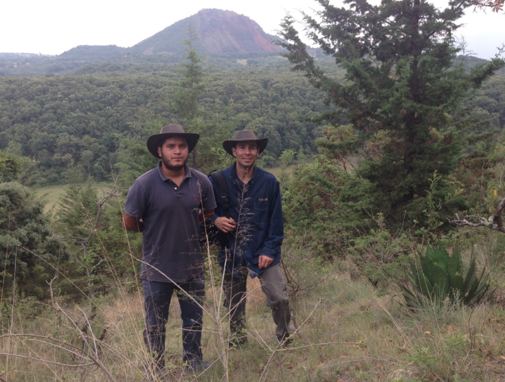 Cristobal y Edison cerca de Quiroga